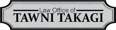 Logo - The Law Office of Tawni Takagi