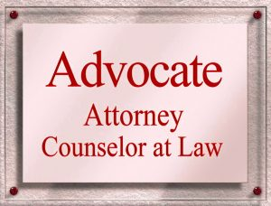 advocate attorney sign