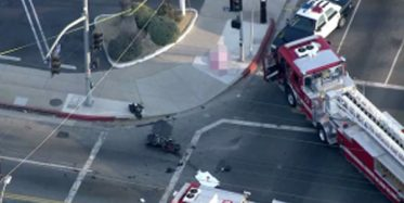 Porter Ranch, CA - Pool Cleaning Truck Involved in Car Accident