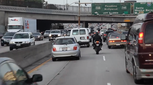 Los Angeles Motorcycle Lane Splitting Accident Verdict