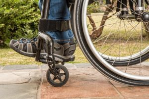 Wheel chair can be the result of spinal injuries
