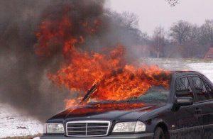 Three-vehicle crash causes car fire in Orange County