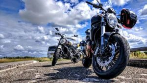Rear-end motorcycle crash in San Diego County