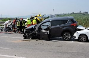 Los Angeles County, CA: Multi-Vehicle Collision on 10 Freeway in