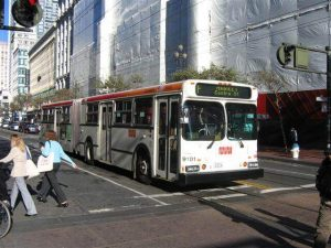 Pedestrian hit by bus in San Francisco
