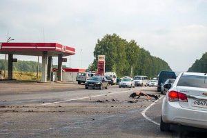 Seven-Vehicle Collision