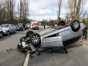 Sacramento, CA - Two Hurt in Monday Rollover Crash